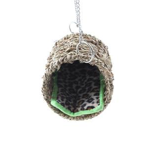 햄스터 자연 바다 잔디 해먹 놀이 터널 매달려 침대 장난감 집 애완 동물 쥐 햄스터 및 기타 작은 동물
