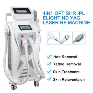 Q-Switch ND YAG Laser Tattoo Entfernung Maschine OPT SHR Haarentfernung elight Hautverjüngung RF Hautpflegegerät