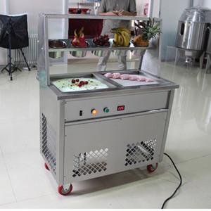 Плоское замораживание мороженого машина из нержавеющей стали жареных мороженого производитель йогуртов жареного мороженого ролл машин с 5 танком