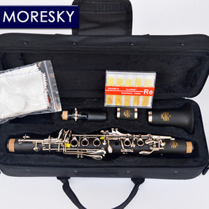 MORESKY Clarinet Eb tone soprano clarinet Hard Rubber Body Material Clarinet for Children Nickel Plated keys
