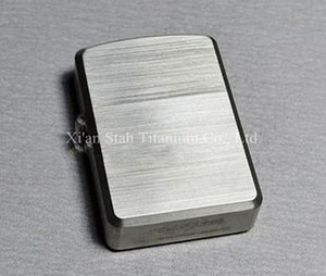 Titanium TC4 Heavy Armor Oil Lighter Case   Shell   Cover 1.8mm Thick Ti Material Solid Durable Hinge Satin Hand burnishing 75g