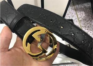 Spécification des hommes de haute qualité et de la courroie à mailles femelle en 2020: 3,8 longueur de ceinture avec boucle 105-125cm noir, livraison gratuite