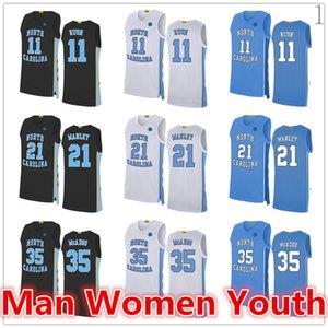 2020 custom made NCAA North Carolina di basket maglie Ryan McAdoo 35 Shea Rush 11 Sterling Manley 21 Maglia qualsiasi nome numero di dimensioni S-5XL