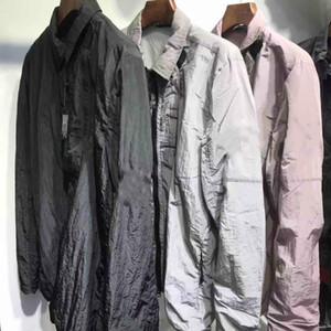 otoño de Estados Unidos ocio de moda para hombre chaquetas a prueba de viento sección termocrómico Sección delgada de metal Nylon capa de apresto asiático de sexo masculino