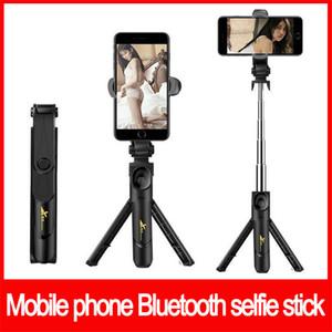 Bluetooth autofoto palo trípode monopods integrados extensible autorretrato palillo de la cámara estabilizador de vídeo de múltiples funciones del soporte libre de DHL