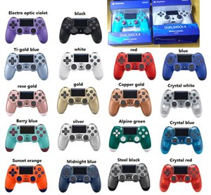 New Retail-Paket 18 Farben PS4-Controller Wireless Controller Bluetooth Game-Controller Doppelter Schlag für PS4 Play Station DHL FREE