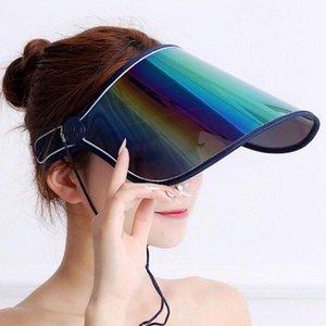 Unisex Iridescent Protective Mirrored Outdoor Sport Travel Anti-UV Sun Visor Sun Visor Hat