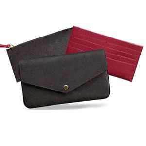 Вечерние сумки 3 шт цепи плеча сцепления бумажники сумки кошельки женщин Бумажники плеча дамы цепи плечо кожаный мешок с коробкой