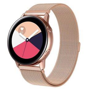 삼성 갤럭시 시계 용 밀라노 루프 밴드 액티브 스테인레스 스틸 스트랩 스포츠 시계 팔찌 시계 갤럭시 42mm 용