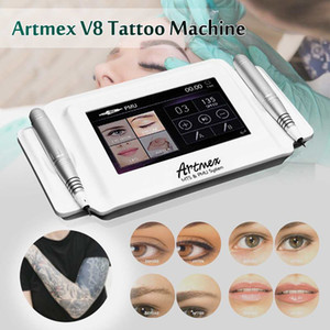 máquina de maquiagem permanente digitais Artmex V8 toque máquina de tatuagem conjunto Eye Brow Lip Rotary Pen MTS e Sistema PMU caneta tatuagem