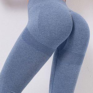 SALSPOR Leggings Esporte Mulheres da aptidão cintura alta Push Up Solid Color Sweatpants Musculação joggings Quick Dry Leggings