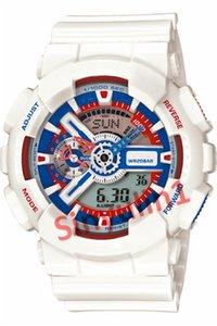 Drop Ship Hommes Homme G Style Sport 2020 Montres-bracelets Nouvelle arrivée multi-couleurs Choisissez LED haute qualité numérique analogique double affichage Montre bracelet