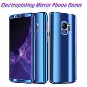 360 ° volle abdeckung galvanik spiegel telefon abdeckung pc hard case für iphone xr xs max 7 8 plus 6 s 6 plus