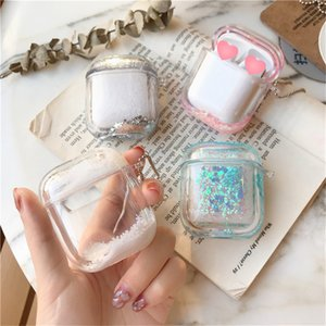 Liquid Glitter Quicksand Bluetooth Earphone Protective Shell for Apple AirPods1 Wireless Headphone Charging Box Case Accessories