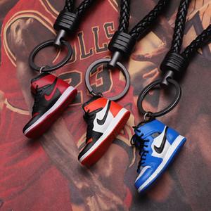 Pareja marca de las zapatillas de deporte Conjunto Nombre por encargo llavero colgante Zapatos Adornos regalo creativo de baloncesto llavero llavero Crafts