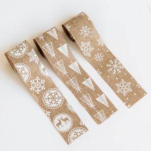 5 * 200 enfeites de natal da fita do floco de neve cervos serapilheira Decor Xmas da festa de casamento decoração Home DIY Bow Craft