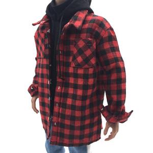 1: 6 échelle rouge chemise à carreaux veste vêtements masculins pour 12 pouce hommes Action Figure jouet bricolage accessoires