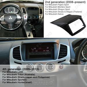 2DIN Radio DVD Stereo Panel Dash Mounting Installation Trim Kit Frame Fascia For Mitsubishi Triton L200 Strada Sportero Hunter #1620