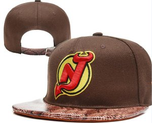 DeVILS 하키 NEW JERSEY 니트 Beanies Embroidery Adjustable Hat 수 놓은 스냅 백 캡 검정 회색 흰색 스티치 모자 한 사이즈 04