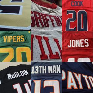 NOVA TEMPORADA Futebol Americano CUSTOM Jersey Tudo costurado 32 Equipe personalizado qualquer nome faz Número Tamanho S-5XL Ordem Mix das mulheres dos homens juventude caçoa