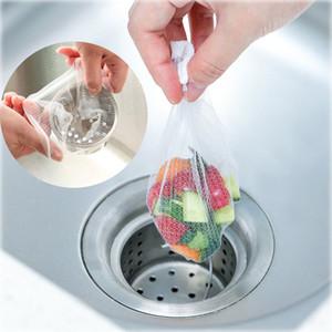 100 adet / grup Lavabo Drenaj Delik Çöp Süzgeç Mesh Tek Kullanımlık Çöp Torbası Banyo Mutfak Atık Bin Filtre Örgü Saklama Çantası