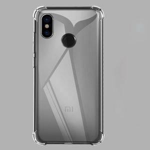 Cojín de aire transparente claro ultra delgado de TPU de silicona cubierta completa del caso para Xiaomi redmi 7A 6 Pro Plus Nota 5 8 7 6 5 A S2 K20 prueba de golpes