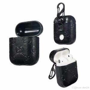 Pour Airpods Etui En Cuir PU Couverture De Protection Crochet Fermoir Porte-clés Anti Perdu Mode Écouteurs Cas Protecteur Pour les cadeaux