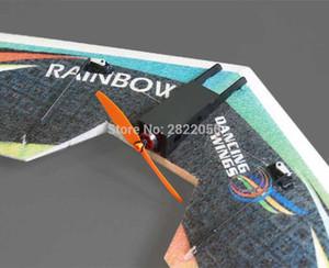 O envio gratuito de RC Plane EPP modelo de avião DW HOBBY arco-íris voar de asa 800 milímetros Envergadura versão impulso da cauda RC Avião Kit
