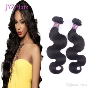 Top Grade Human Hair Products 3 Pcs Lot Indian Peruvian Malaysian Hair Wefts Body Wave 100% Unprocessed Hair Extensions Shipping Free