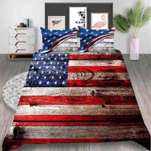 American Flag Bettwäsche König Modische Klassische Bettbezug Weinlese-Königin Twin Voll Single Doppelbettdecke mit Pillowcase