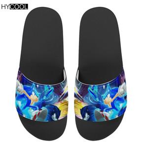 HYCOOL شباشب زحافات منتديات القنفذ سونيك طباعة شاطئ الصيف مراهقون أحذية نسائية صنادل عدم الانزلاق النعال 2020