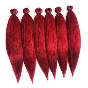 """Lady Fashion intrecciare i capelli omber 26"""" pacchetti lungo Itch Acqua calda Impostazione della fibra sintetica Crochet Braiding Hair Extension"""