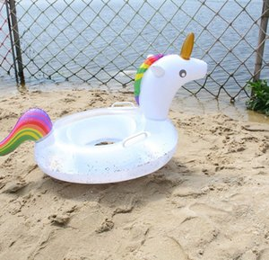 Flotador inflable del anillo de la nadada de los niños de dibujos animados del unicornio Balsa Asiento piscina para el bebé, juguetes inflables piscina de flotación LJJK2147