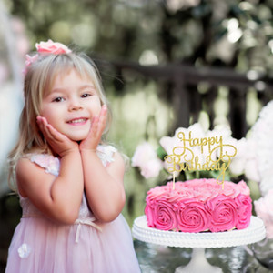 Happy Birthday Cake Topper Glitter Paper Cupcake Dessert Topper for Birthday Party Celebration Cake Decoration 15pcs set
