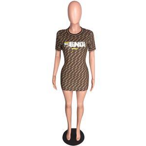 2019 mulheres summer dress mulheres digital impressão dres t-shirt moda curto-luva arco dress plus size sexy party dress