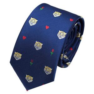 Moda tigre bordado corbata Personalidad Color a juego de gama alta corbata al aire libre para hombres y mujeres diseñador corbata envío gratuito
