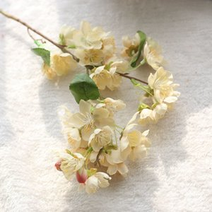 Plastic 20 Inch Fake Artificial Plants Flowers Silk Cherry Blossom Branches Silk Flowers For Home Party Decoration 26BN3