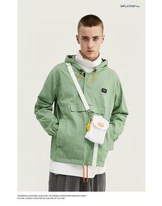 Mens Deisgner Jacke Art und Weise gedruckte lose Oberseiten beiläufigen Mens-Mantel mit Kapuze