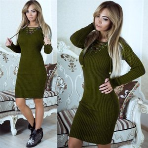 Womens Designer Long Sweaters Dress Fashion Chest Belt Cross Donna Clothes Ladies Article Pit Casual Dress