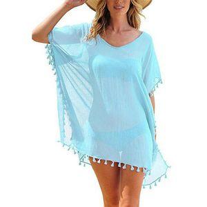 Chiffon Dress Women Beach Dresses Tunic Women's Robe De Plage Pareo For Beach Wear Bikini Cover Up Playa Beachwear Tunics