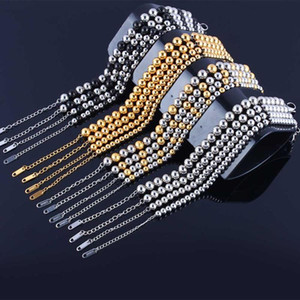 stainless steel bracelets for women beads bracelets men femme charms braslet fashion gold chain link accessories gifts for women