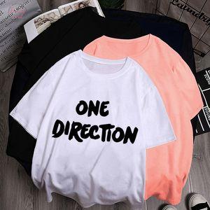 T Shirts Donne 2020 estivo Top Mujer One Direction maglietta punk di Grunge Harajuku Graphic T Shirt Tee Shirt Femme