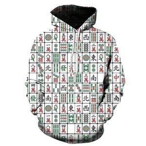 Men's Hoodies & Sweatshirts Fashion 3D Print Funny Unisex Mahjong Style Pullover Sleeve Streetwear Sweatshirt Hoodie