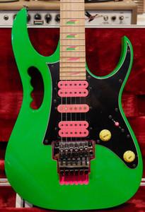 Guitarra NOVO Steve Vai JEM777 verde elétrico 30º aniversário Limited Edition Última 4 Frets Scalloped verde guitarra Cavity Tremolo