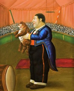 a086# Fernando Botero Man on canvas Home Decor Handpainted & HD Print Oil Painting On Canvas Wall Art Canvas Pictures 200205