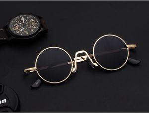 2019 Sunglasses full frame Vintage designer sunglasses for men Shiny Gold Logo Hot sell Gold plated lunettes de designer