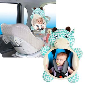 Baby Car Safety Seat Rear Facing Mirrors Baby Cartoon Easy View Monitor Adjustable Useful Mirror for Toddler Safety Seat Toys