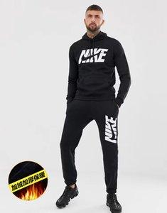 20Brand Erkek Kadın eşofman Kalın Kadife Spor Yüksek Kalite Kapüşonlular Mens Jogger eşofmanlar Pantolon Sweat Tops + Ceket 2 Adet Set B B103503L