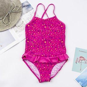 رخيصة الأطفال 5-12Years بنات ملابس السباحة العلامة التجارية الجديدة صيف طباعة بنات ملابس السباحة قطعة واحدة ملابس السباحة الأطفال بذلات ملابس السباحة