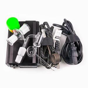 Günstige Enail elektrische Klecks Nagel Kontrollbox Mit 14mm 18mm männlichen Quarz Nägel 20mm Spule heate Kit Silikonkissen Titanium Glas Dab Rig